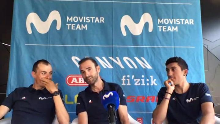 Los ciclistas del Movistar Team analizan La Vuelta 2020 a pocas horas del comienzo