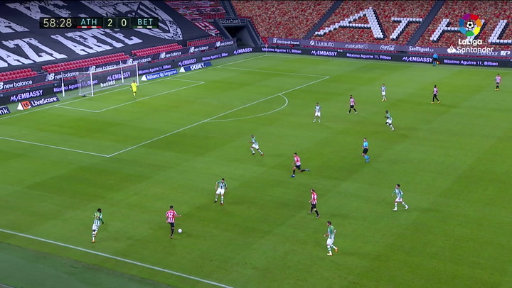 Gol de Muniain (3-0) en el Athletic 4-0 Betis