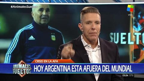 Fantino descargó su bronca tras el empate con Perú que acentúa la crisis de la selección