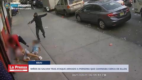Niños se salvan tras ataque armado a persona que caminaba cerca de ellos en Nueva York