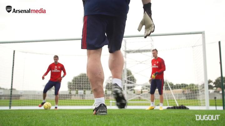 Arsenal goalkeeper training in Dubai