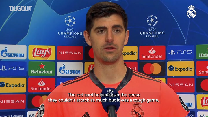 Thibaut Courtois: 'A goal and the win here are very valuable'