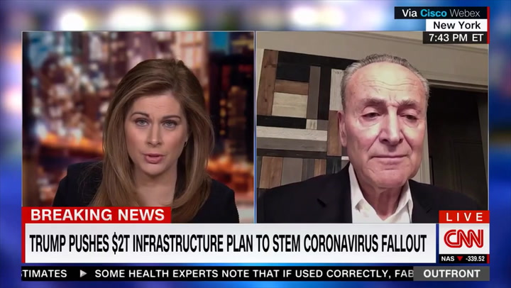 Schumer: Phase 4 Coronavirus Legislation 'Will Come Up in a Few Weeks'