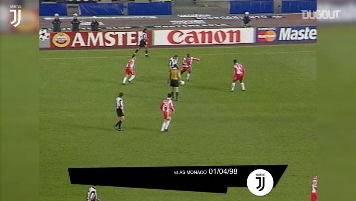 Gols da Juventus contra equipes francesas na Itália