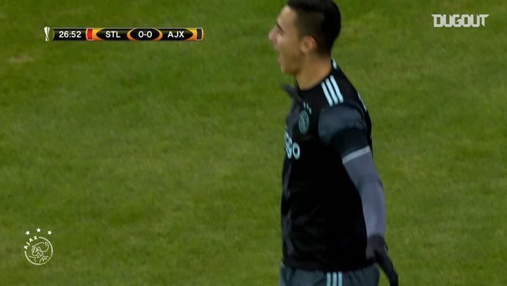 Anwar El Ghazi's incredible strike vs Standard Liège