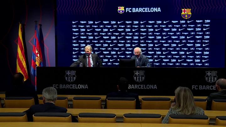 La rueda de prensa íntegra de Carles Tusquets y Joan Manuel Trayter