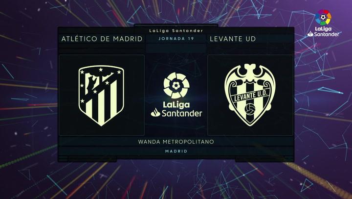 LaLiga (J19): Resumen y goles del Atlético 2-1 Levante