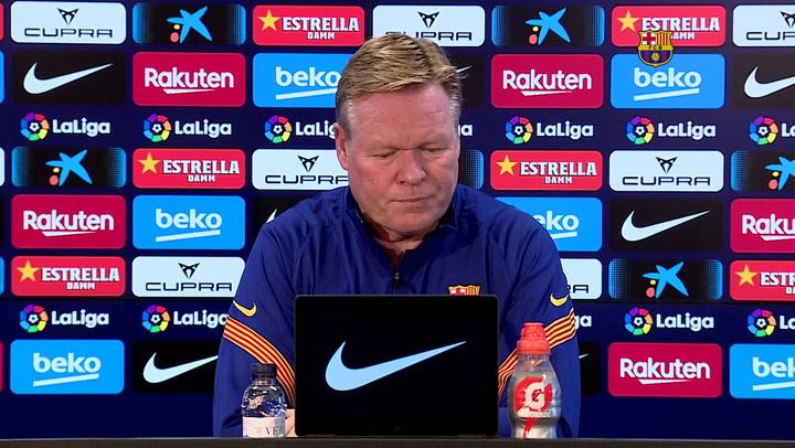 La rueda de prensa de Koeman, previa al partido de Liga contra el Atlético