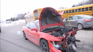 School bus, car involved in crash by Eagle Lake
