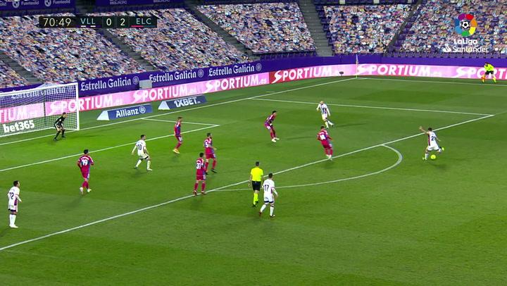 Gol de Míchel (1-2) en el Valladolid 2-2 Elche