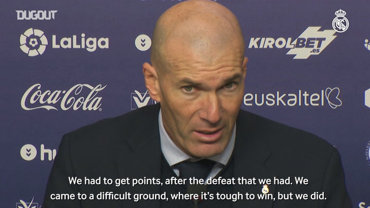 Zidane: 'These are three very important points'