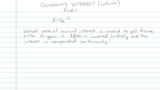 Compound Interest (Continuously) - Problem 6