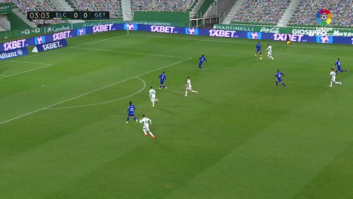 Gol de Raúl Guti (1-0) en el Elche 1-3 Getafe