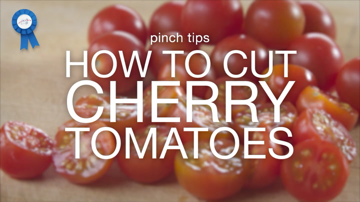 pinch tips: How to Cut Cherry Tomatoes
