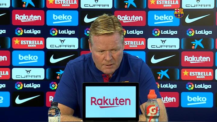 Koeman habla de la posible titularidad de Jordi Alba
