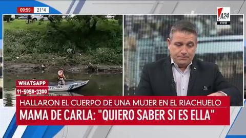Familia confirma que el cuerpo hallado en el Riachuelo es el de Carla