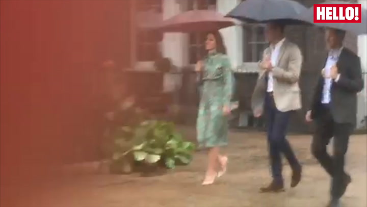 Princes William And Harry And Kate Visit The White Garden