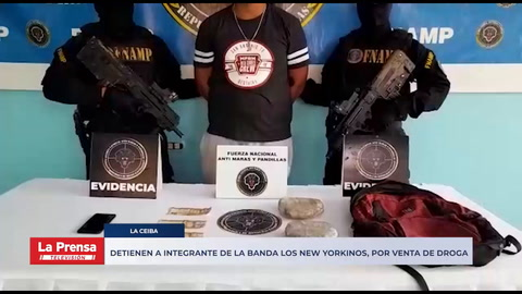 Detiene a integrante de la banda Los New Yorkinos por venta de droga en barrio La Isla de La Ceiba