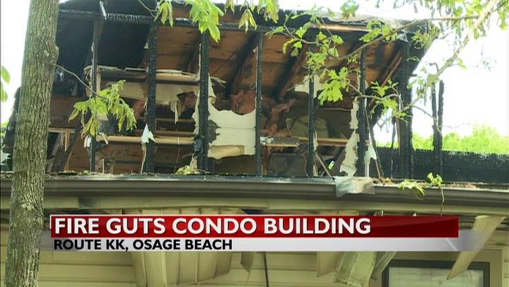 UPDATE: Fire guts part of condo complex in Osage Beach
