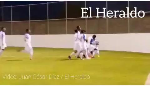 Cristian Cálix anota gol para la Seleccíón de Honduras sub 19 ante Belice en Comayagua