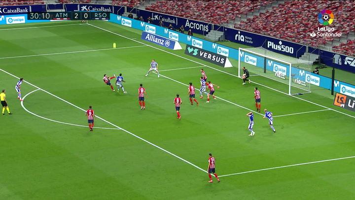 Oblak salvó del empate al Atlético de Madrid con varias intervenciones de mérito