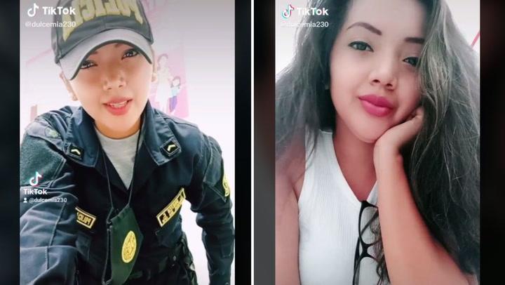 Rivaliza con Jossmery Toledo: Joven policía se consagra como nueva reina del Tik Tok