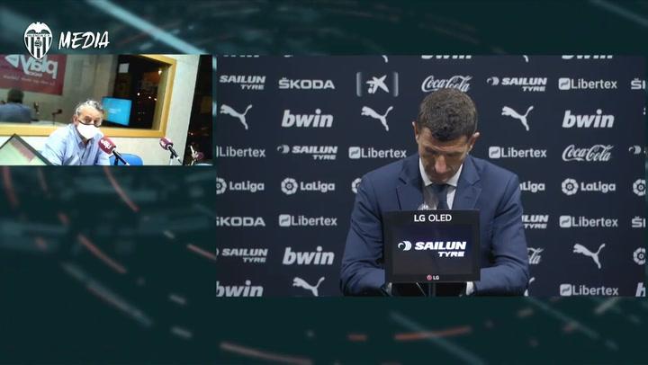 Javi Gracia, destituido, tras el Valencia- Barça