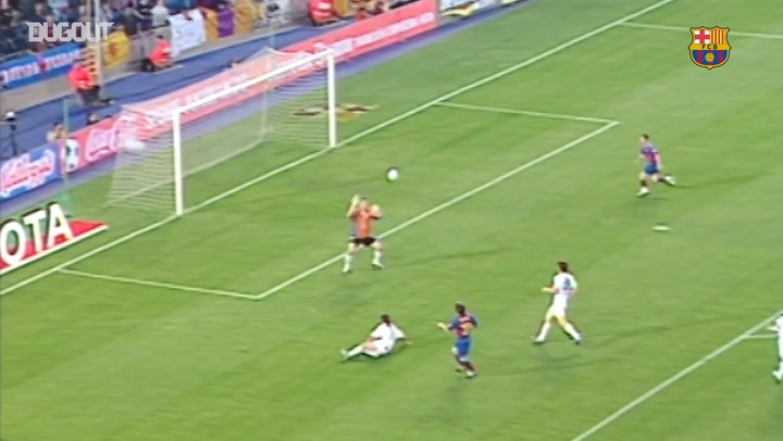 Messi's First Ever Barcelona Goal