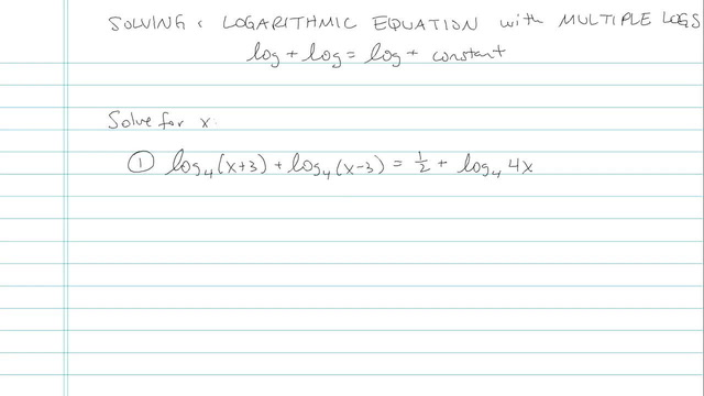 Solving a Logarithmic Equation with Multiple Logs - Problem 4