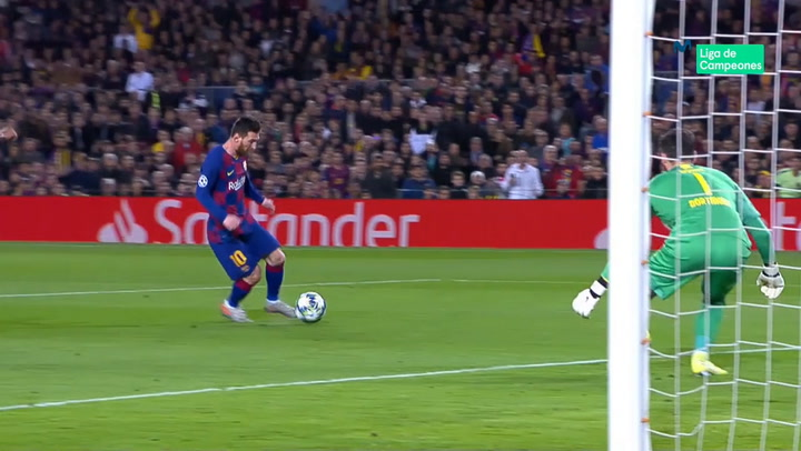 Champions League: Barça - Borussia Dortmund. Gol de Lionel Messi (2-0)