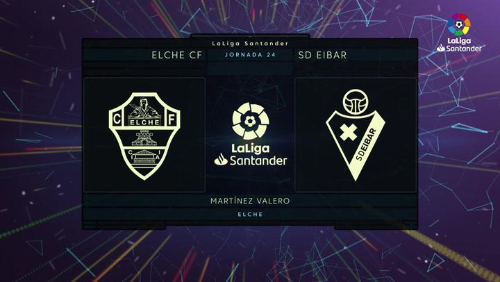 LaLiga (J24): Resumen y gol del Elche 1-0 Eibar