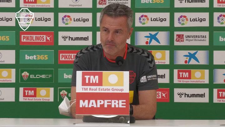 La rueda de prensa de Fran Escribá (Elche), previa al partido contra el Barça