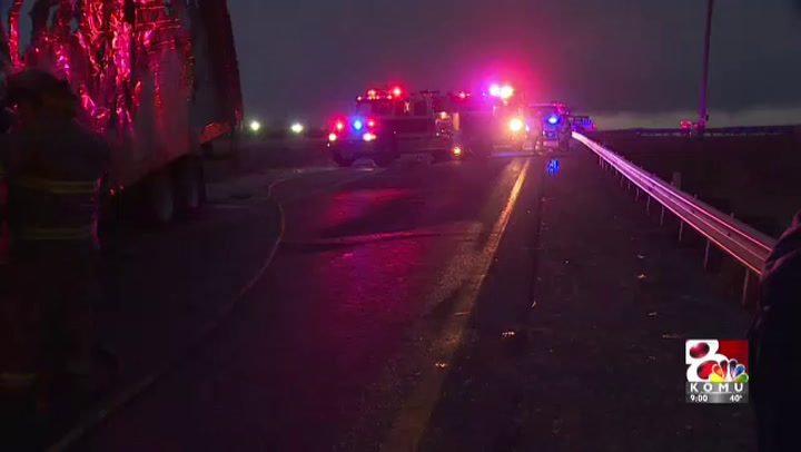 Semi-truck catches on fire near Millersburg