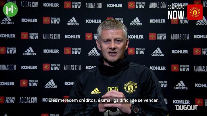 """Solskjaer diz que """"machuca"""" ver Liverpool campeão do Inglês"""