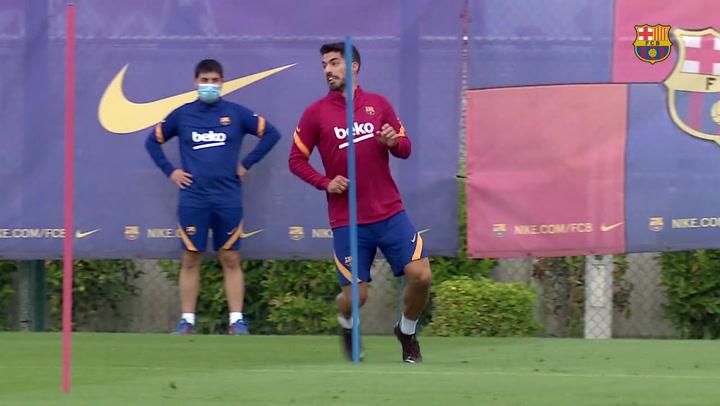 Luis Suárez se entrena estos días junto a sus compañeros