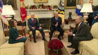 Trump exige su muro con México en insólita reunión