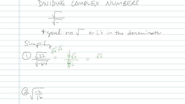 Dividing Complex Numbers - Problem 7