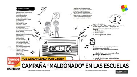 Polémica por la campaña de Ctera para reclamar en las escuelas por Santiago Maldonado