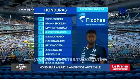 Honduras anuncia amistoso ante Chile en noviembre