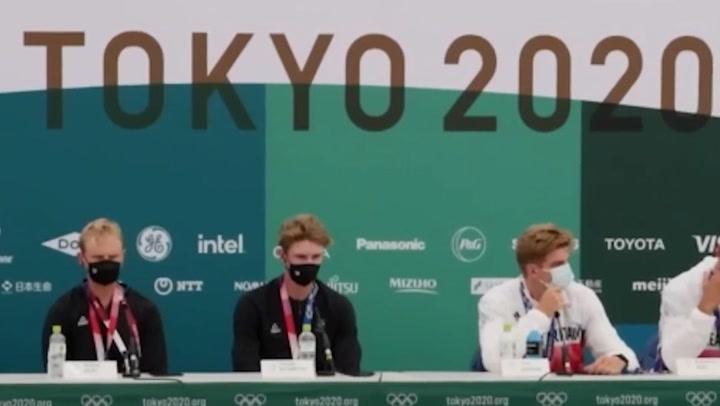 Great Britain's men's eight team secure bronze in regatta's final Tokyo 2020 Olympic event