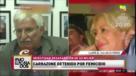 Detivieron a Carrazone por la desaparición de su mujer