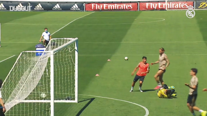 Real Madrid's last training session before hosting Getafe