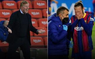 Koeman explica su bronca con Mingueza y le tira 'palos' a dos jugadores más del Barcelona