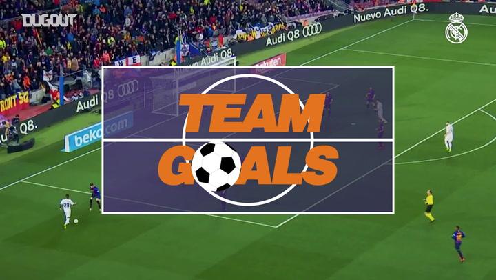 Team Goals: Lucas Vázquez Vs FC Barcelona