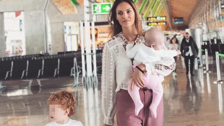 Helen Lindes vacaciones con sus hijos