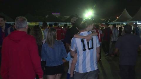 Copa América: decepción entre argentinos, colombianos eufóricos