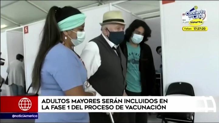 Adultos mayores serán incluidos en la primera fase de vacunación contra la COVID-19