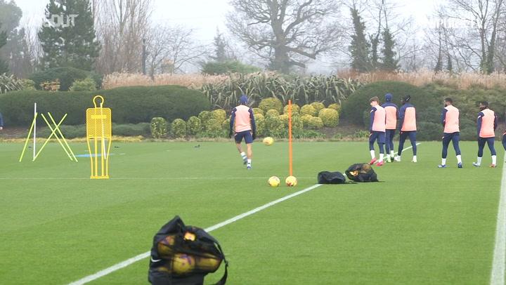 Tottenham stars in training before Fulham clash