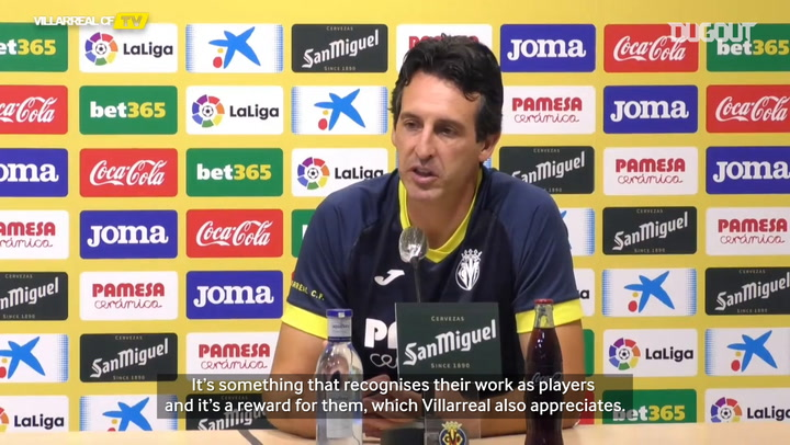 Unai Emery on Kubo being called up to the Japanese national team