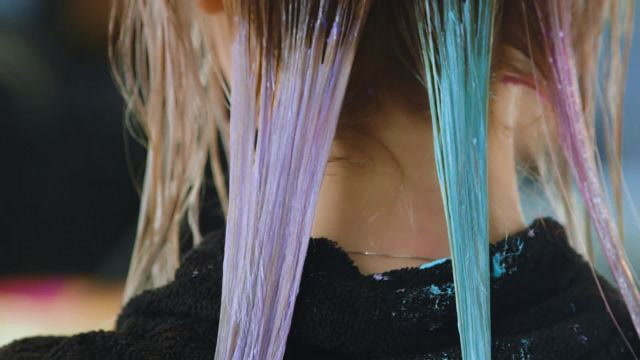 Watch This Mother of Pearl Hair-Color Transformation
